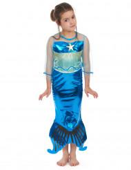 Déguisement sirène bleue fille