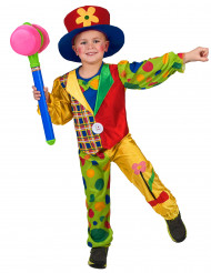 Déguisement clown multicolore garçon