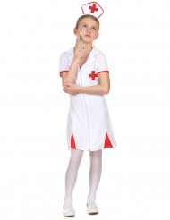 Déguisement infirmière rouge et blanc fille