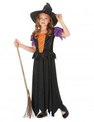 Déguisement sorcière fille avec chapeau