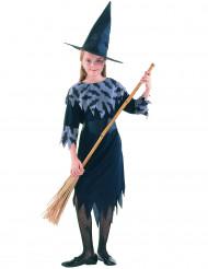 Déguisement sorcière à motifs de chauve-souris fille