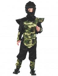 Déguisement ninja militaire camouflage garçon
