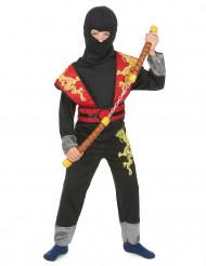 Déguisement ninja jaune et rouge garçon