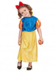 Déguisement princesse des neiges bleu et jaune fille