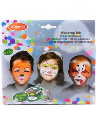 Palette maquillage 6 couleurs animaux