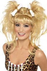 Perruque blonde femme des cavernes