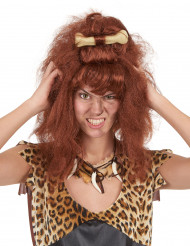 Perruque marron femme des cavernes