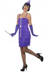 Déguisement années 20 charleston violet femme