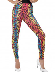 Legging léopard multicolore adulte