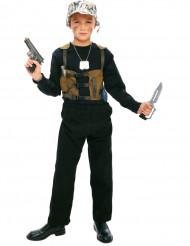 Déguisement militaire kaki garçon