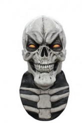 Masque intégral squelette blanc sourire homme