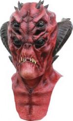 Masque intégral homme démoniaque rouge