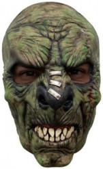 Demi-masque monstre vert terrifiant adulte