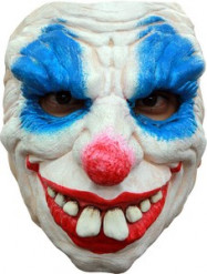 Demi masque clown diabolique homme