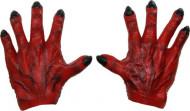 Main de monstre rouge homme