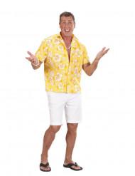 Chemise hawaïenne jaune homme