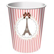 8 Gobelets Tour Eiffel Parisenne