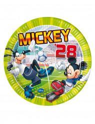 8 Assiettes en carton Mickey goal™ 23 cm