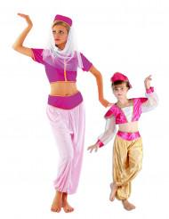Déguisement de couple danseuses orientales mère et fille
