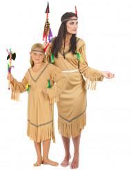 Déguisement de couple indiennes mère et fille