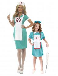 Déguisement de couple infirmières mère et fille