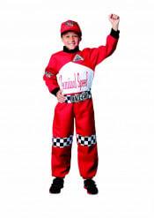 Déguisement pilote de course rouge enfant