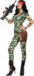 Déguisement militaire sexy combinaison femme