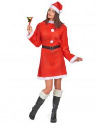 Déguisement Mère Noël robe courte femme
