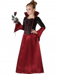 Déguisement vampire rouge et noir fille Halloween