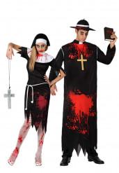 Déguisement de couple religieux zombies