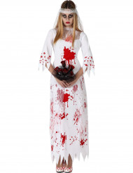 Déguisement mariée ensanglantée femme effrayante Halloween