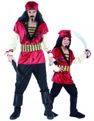 Déguisement de couple pirates père et fils