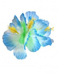 Barrette fleur bleue Hawaï