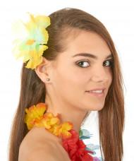 Barrette fleur jaune Hawaï