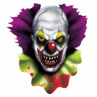 Cutout clown effrayant Halloween