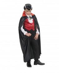 Cape vampire col rouge enfant