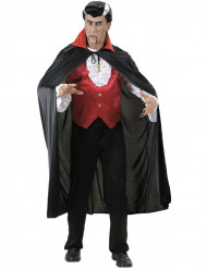 Cape vampire col rouge adulte Halloween