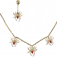 Set bijoux araignée adulte Halloween