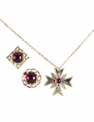 Set bijoux vampire adulte Halloween