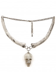 Collier tête de mort adulte Halloween
