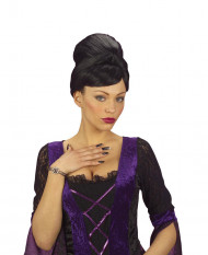 15 Faux ongles sorcière noirs adulte Halloween