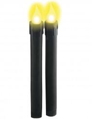 Bougies lumineuses noires à piles