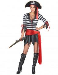 Déguisement pirate ceinture rouge femme