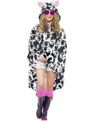 Poncho vache adulte