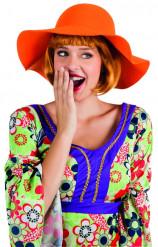 Chapeau estival orange femme