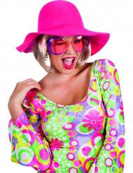 Chapeau estival rose femme