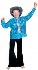 Chemise disco bleue garçon