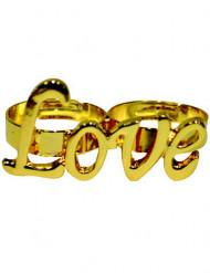 Bague dorée Love adulte