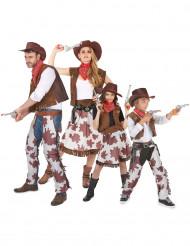 Déguisement de famille de cowboys