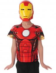 Plastron et masque Iron Man Avengers Assemble™ enfant